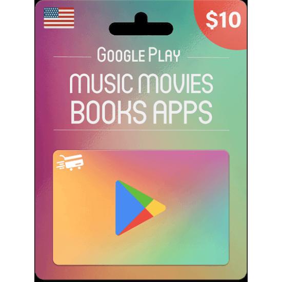 Google Play Gift Card 10 USD