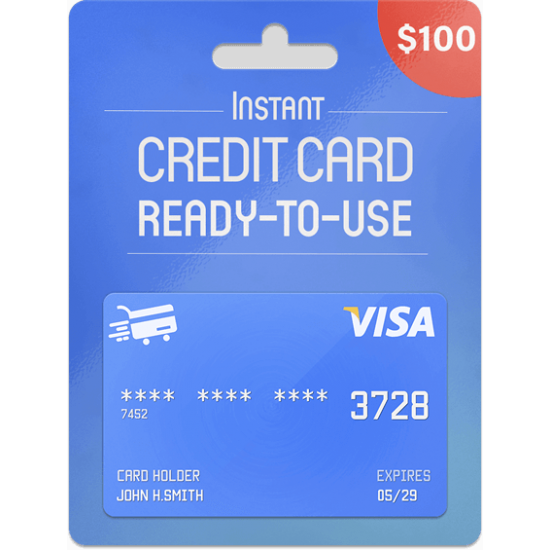 Prepaid Visa Card 100 USD