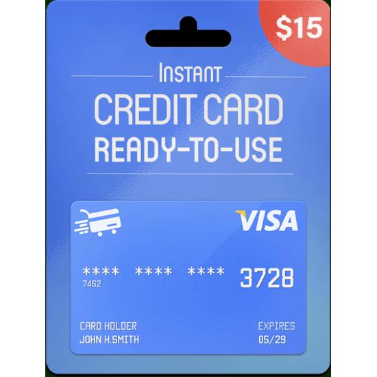 Prepaid Visa Card 15 USD