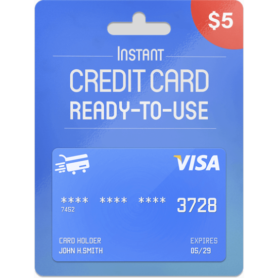 Prepaid Visa Card 5 USD