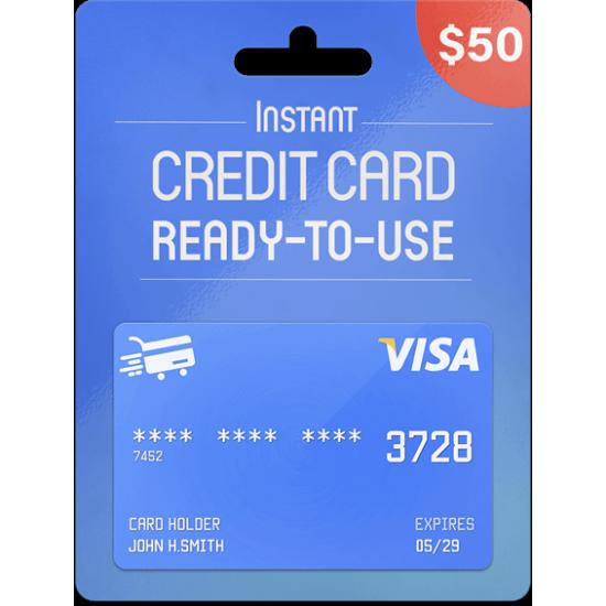 Prepaid Visa Card 50 USD