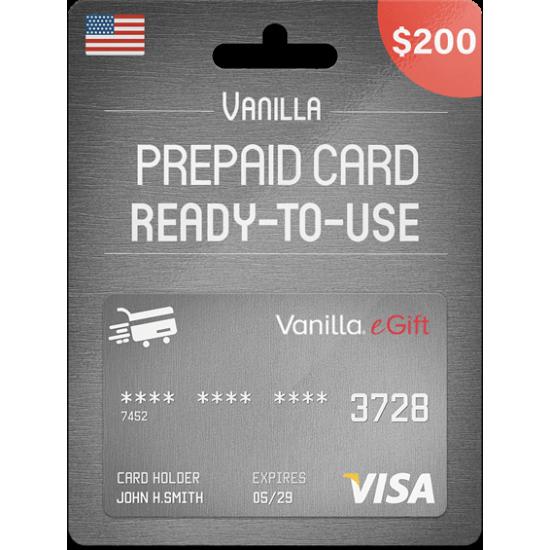 Vanilla eGift Visa 200 USD