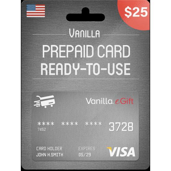Vanilla eGift Visa 25 USD
