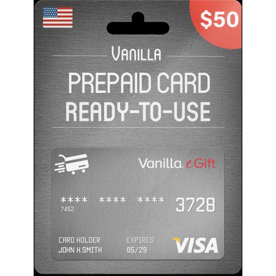 Vanilla eGift Visa 50 USD