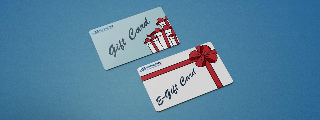 E-gift card vs. Gift Card