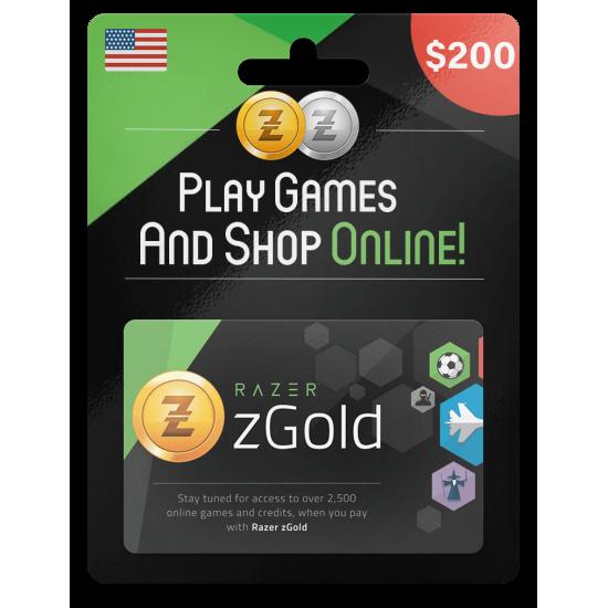 Razer Gold PIN 200 USD